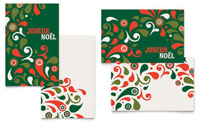 Festive Holiday - Greeting Card Sample Template