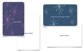 Snowflake Wishes - Greeting Card Template Design Sample