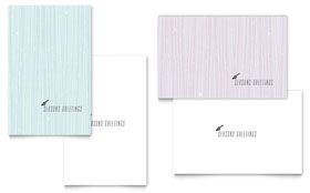 Snow Bird - Greeting Card Template Design Sample