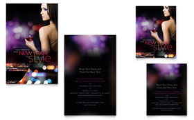 New Year Invite - Note Card Template Design Sample