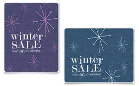 Snowflake Wishes - Sale Poster Template