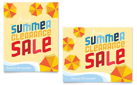 Summer Beach - Sale Poster
