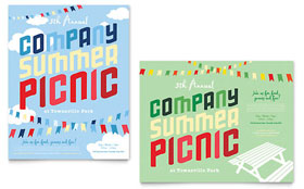 Company Summer Picnic - Poster Template Design Sample