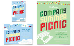 Company Summer Picnic - Flyer & Ad Template Design Sample