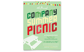 Company Summer Picnic - Flyer Template Design Sample