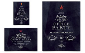 Office Holiday Party - Flyer & Ad Template Design Sample