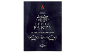 Office Holiday Party - Flyer Template