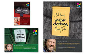 Winter Clothing Drive - Flyer & Ad Template Design Sample