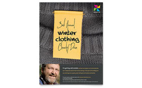 Winter Clothing Drive - Flyer Template Design Sample