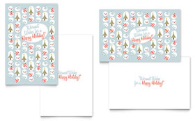 Happy Holidays - Greeting Card Template Design Sample