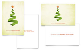Ribbon Tree - Greeting Card Template