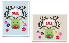 Reindeer Ornaments - Sale Poster Template