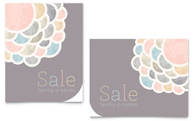 Spring Bloom - Sale Poster Template Design Sample