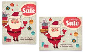 Retro Santa - Sale Poster Template