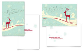 Antique Deer - Greeting Card Sample Template