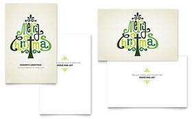 Contemporary Christian - Greeting Card Template Design Sample