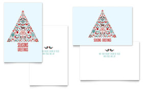 Holiday Art - Greeting Card Template