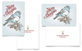 Vintage Bird - Greeting Card Template