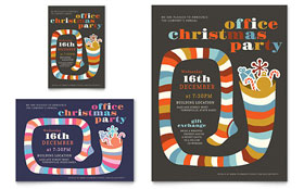 Christmas Party - Leaflet Template Design Sample