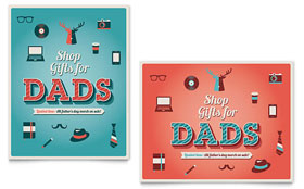 Father's Day - Poster Template Design Sample