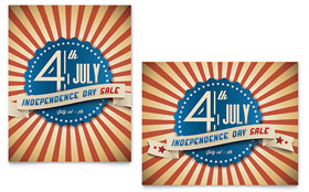 4th of July - Poster Sample Template