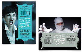 Halloween Costume Party - Poster Sample Template