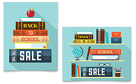 Back to School Books - Poster Template