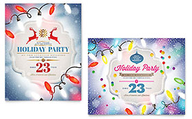 Holiday Party - Poster Template