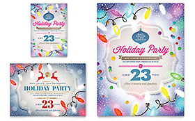 Holiday Party - Flyer & Ad Template