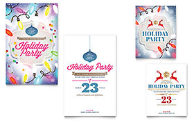 Holiday Party - Note Card Template