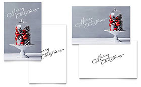 Christmas Display - Greeting Card Template