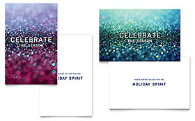 Glittering Celebration - Greeting Card Sample Template