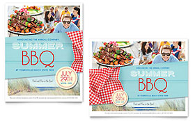 Summer BBQ - Poster Sample Template