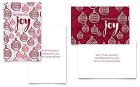 Joy - Greeting Card Template