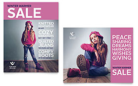 Kids Clothing - Poster Template