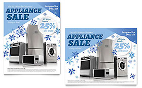 Kitchen Appliance - Poster Sample Template